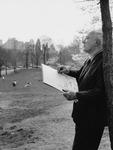 Adolf Dehn in the Park Panel by Fairfield University Art Museum