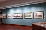 Adolf Dehn Exhibition Title Wall and Display Case by Fairfield University Art Museum