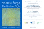 Andrew Forge: The Limits of Sight Digital Invitation by Fairfield University Art Museum