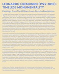Timeless Monumentality Intro Panel by Fairfield University Art Museum