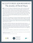 Sculptured Adornment: The Jewelry of David Hayes Intro Panel