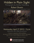 Excavation: Recent Photographs by Stanley Greenberg Flyer for Robert Shamis Lecture