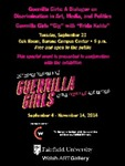 Guerrilla Girls Gig Poster by The Thomas J. Walsh Art Gallery and Ed Ross
