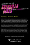Not Ready to Make Nice:  Guerrilla Girls in the Artworld and Beyond Title Wall Poster