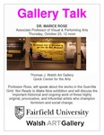 Dr. Marice Rose Guerrilla Girls Gallery Talk flyer