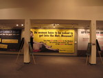 Guerrilla Girls Do women have to be naked to get into the Met. Museum? banner