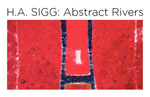 H. A Sigg: Abstract Rivers Postcard by Fairfield University Art Museum