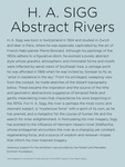 H. A. Sigg: Abstract Rivers Intro Panel by Fairfield University Art Museum