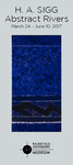 H. A. Sigg: Abstract Rivers Rack Card by Fairfield University Art Museum