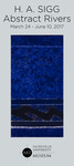 H. A Sigg: Abstract Rivers Foyer Banner by Fairfield University Art Museum