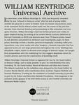 Kentridge Exhibition Introductory Panel by Fairfield University Art Museum