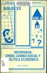 Nicaragua : política económica, crisis y cambio social