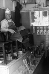 Frank Corolla in his Shoeshine Shop