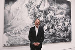 Rick Shaefer: The Refugee Trilogy Photo of Artist by Fairfield University Art Museum