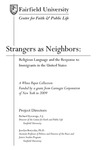 Strangers As Neighbors: Religious Lanugage and the Response to Immigrants in the United States