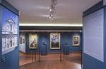 Art of the Gesù exhibition title wall by Fairfield University Art Museum