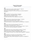 Thomas J. Walsh Art Gallery Exhibitions, 1990-2013 List